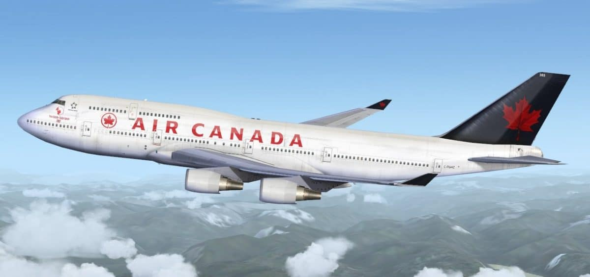 Air Canada duty free shopping