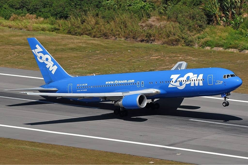 Zoom Airlines duty free shopping