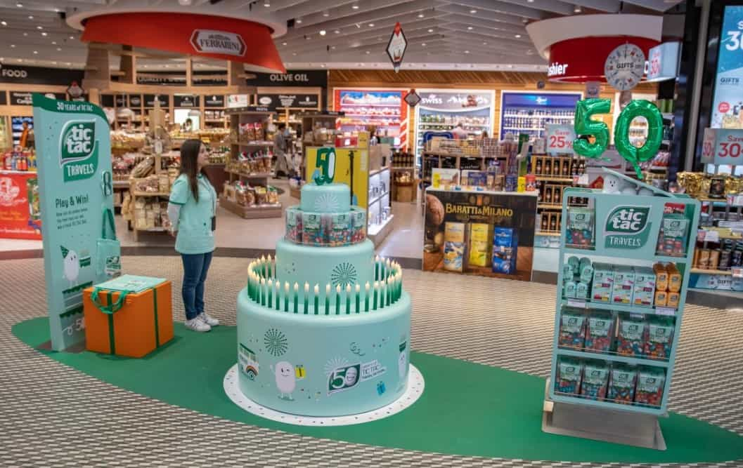 Ferrero partners with Dufry at Milan Malpensa to mark 50 years of Tic Tac
