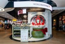 Hendrick's Gin brings festive joy to passengers with a delightfully unusual snow globe activation in London Heathrow Terminal 3