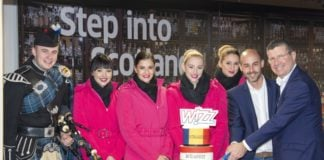 Wizz Air takes off from Edinburgh Airport