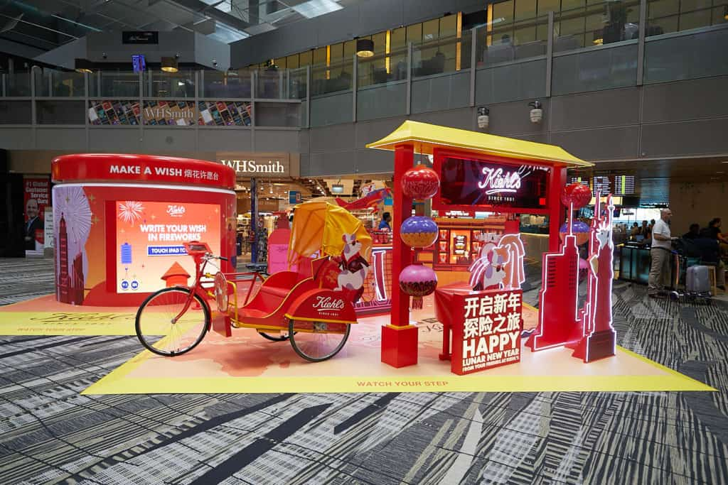 Kiehl's and Shilla unveil spectacular Lunar New Year animation at Changi Airport Featured Image
