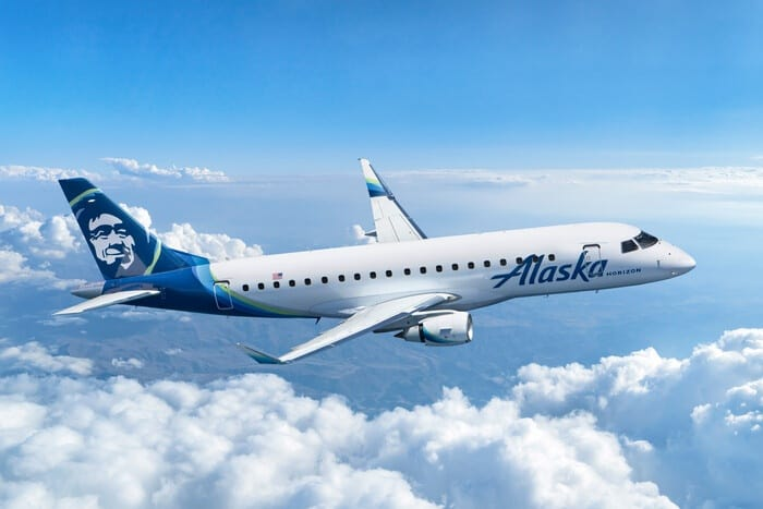 Alaska Air Group orders nine new E175 planes from Embraer Featured Image